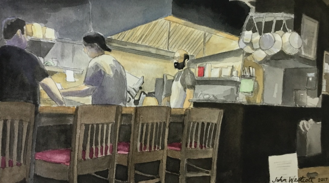 Open Kitchen at McNally's Tavern, Chestnut Hill