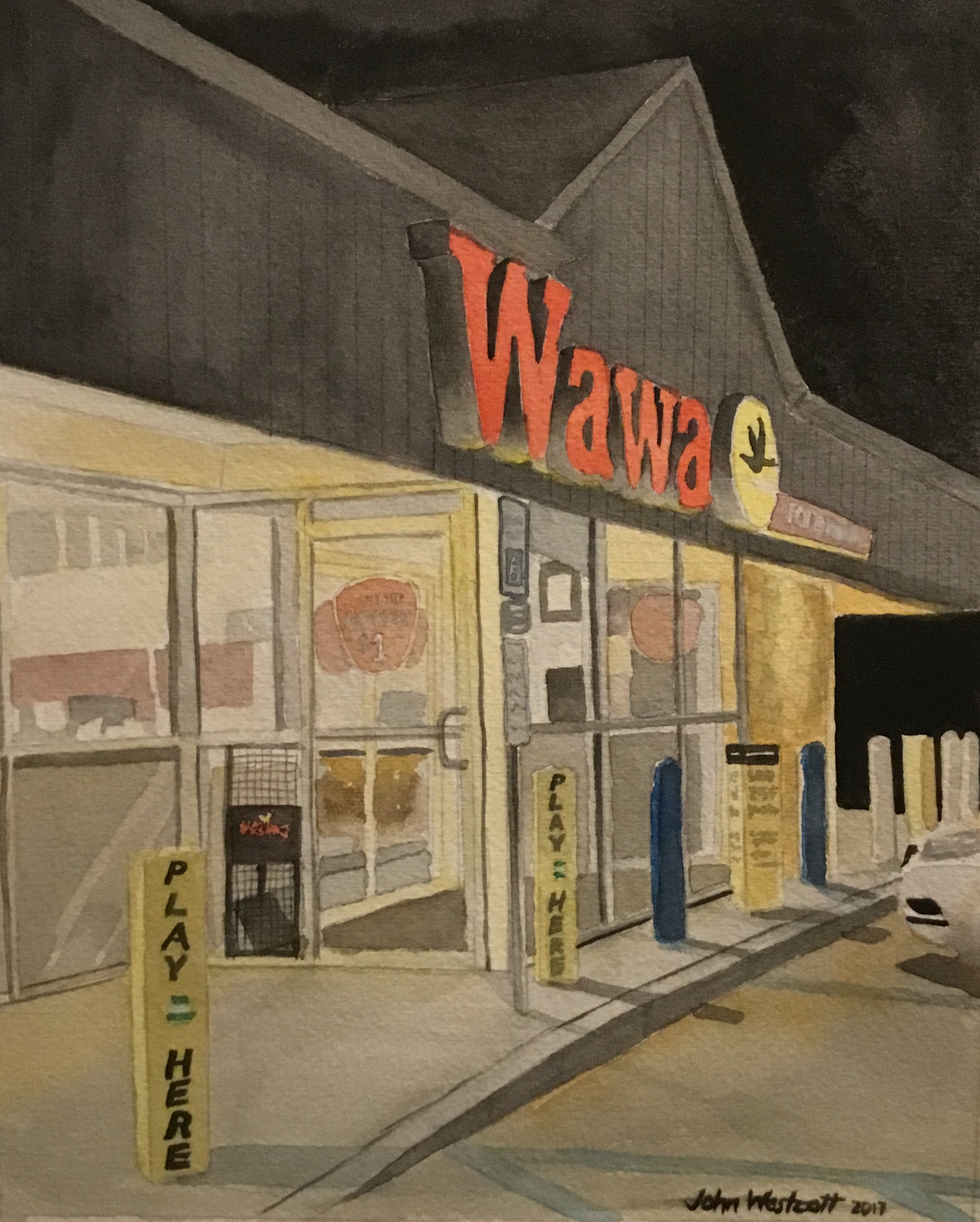 Spring House Wawa at 11 PM